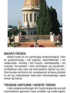 Brosjyre Baha'i troen