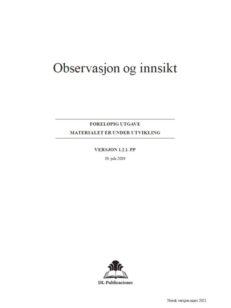 Observasjon og innsikt